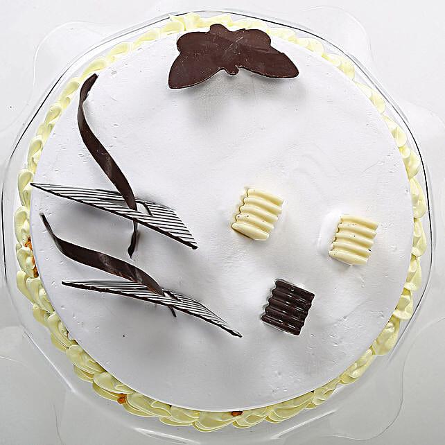 Butterscotch Round Cake 2kg Eggless