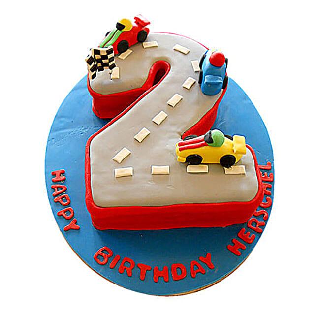 Car Race Birthday Cake 3kg Eggless Truffle
