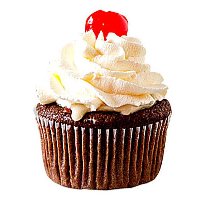 Chocolate Cherry Cupcakes 12 Eggless