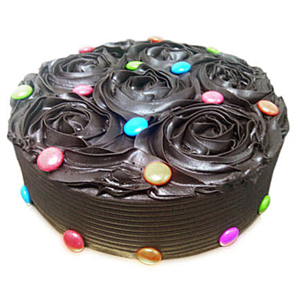 Chocolate Flower Cake Half kg