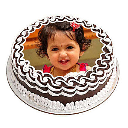 Chocolate Photo Cake 2kg Eggless