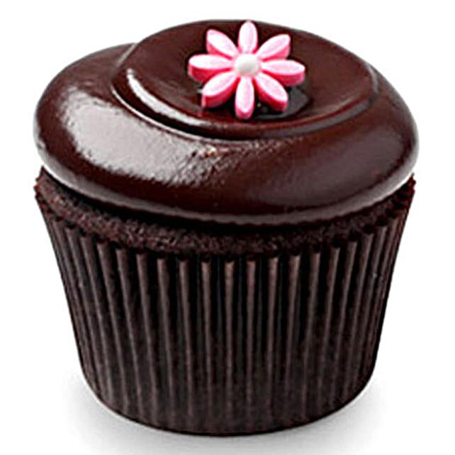 Chocolate Squared Cupcakes 6 Eggless