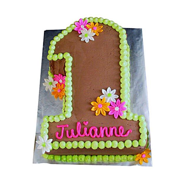 Chocolaty 1st Birthday Cake 4kg Pineapple