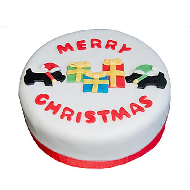 Christmas Celebrations Cake 2kg Eggless