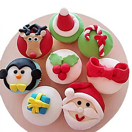Christmas Special Cupcakes 12 Eggless