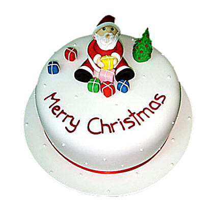 Christmas with Santa Cake 3kg Eggless