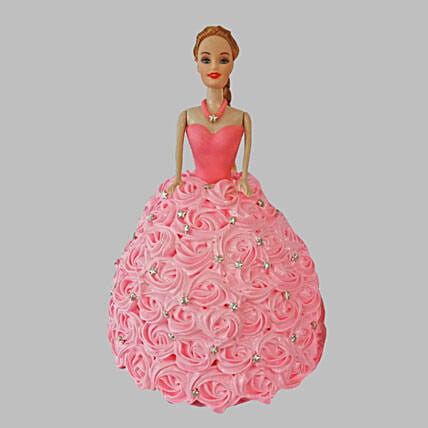 Classy Barbie Cake Black Forest 2kg Eggless