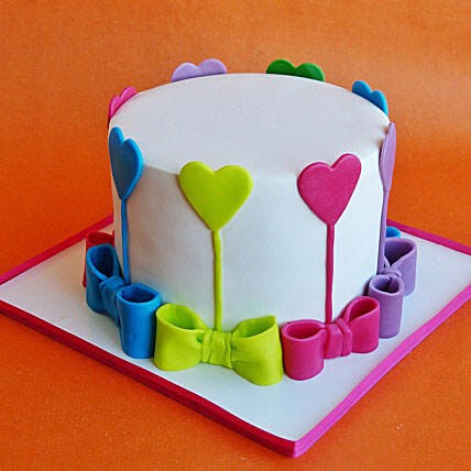 Colors Of Love Cake 3kg Vanilla Eggless