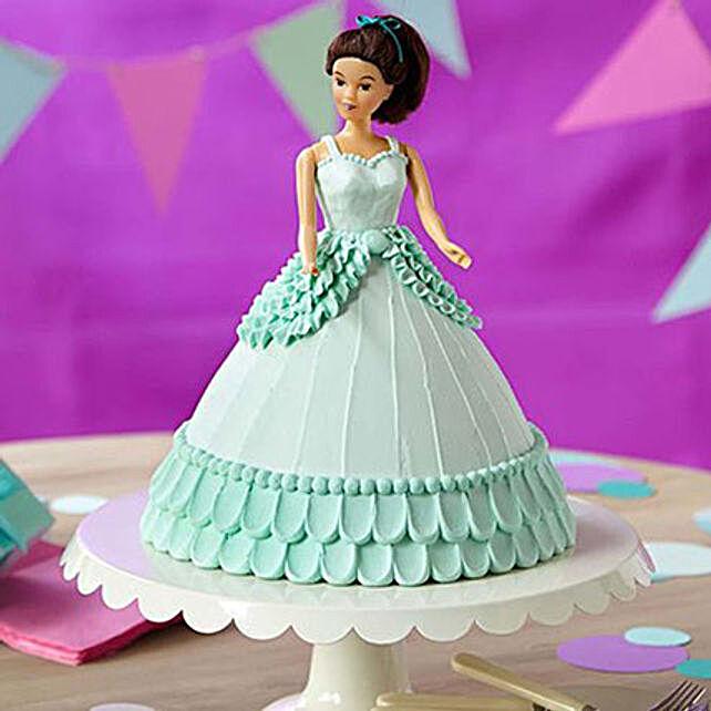 Cool Blue Barbie Cake Butterscotch 2kg