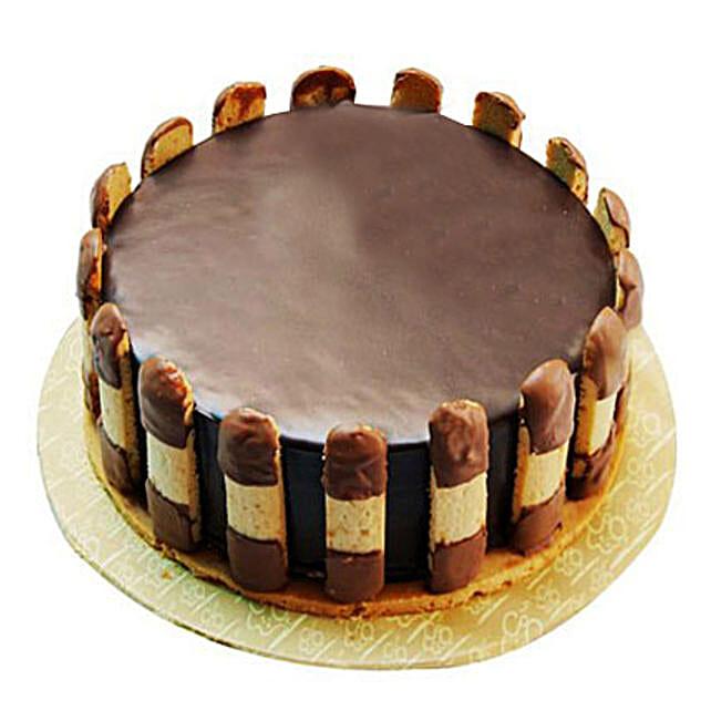 Crunchy Chocolate Cake 1kg Eggless