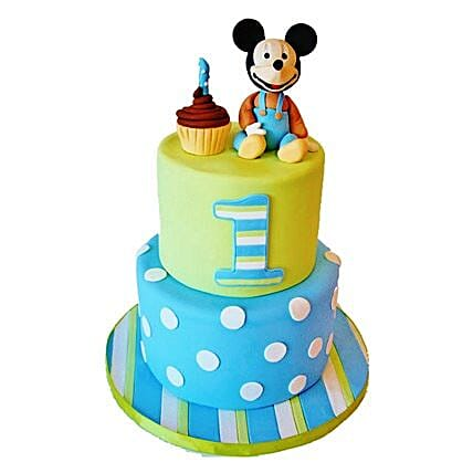 Cute Cartoon Cake 3kg Eggless
