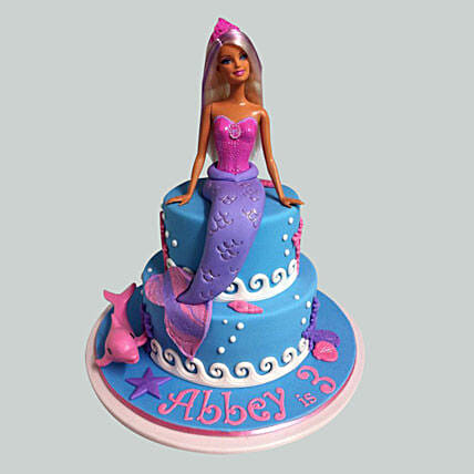 Cute Mermaid Barbie Cake 2kg Eggless