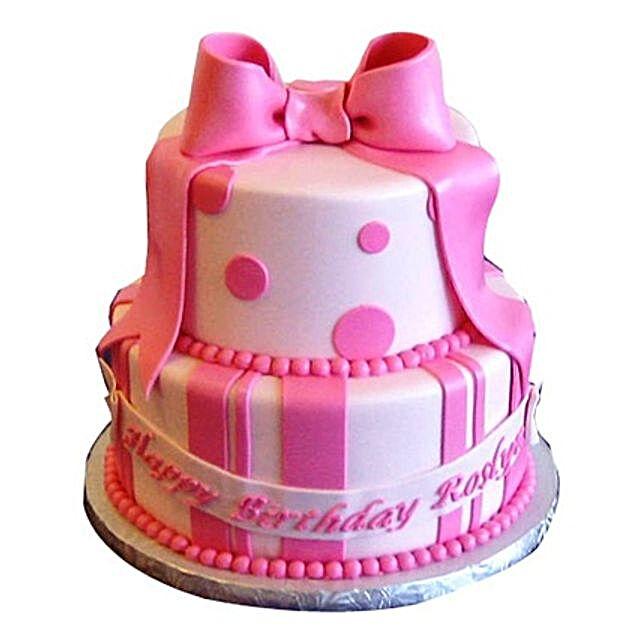 Cute Pink Gift Cake 3kg Eggless
