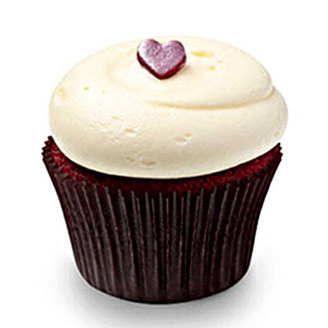 Cute Red Velvet Cupcakes 6 Eggless