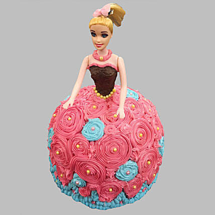 Dashing Barbie Cake Truffle 2kg Eggless