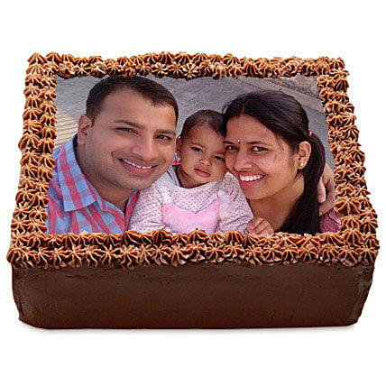 Delicious Chocolate Photo Cake 1kg Eggless