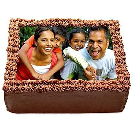 Delicious Chocolate Photo Cake Eggless 1kg by FNP