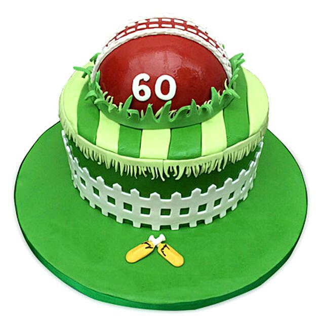 Designer Cricket Fever Cake 2kg Eggless Chocolate