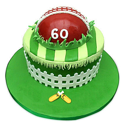 Designer Cricket Fever Cake 4kg Black Forest