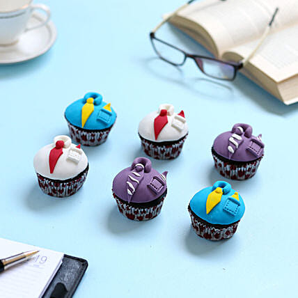 Designer Cupcakes For Dad 6 Eggless