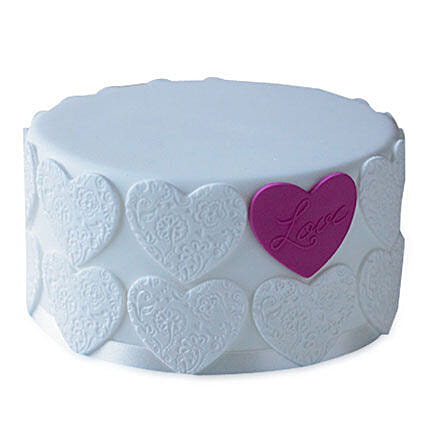 Elegant Love Cake 2kg Eggless Pineapple