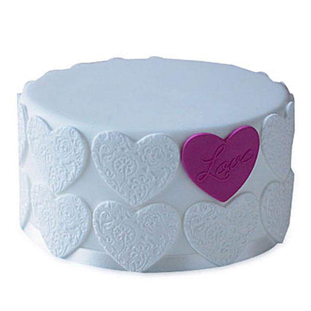 Elegant Love Cake 2kg Eggless Vanilla