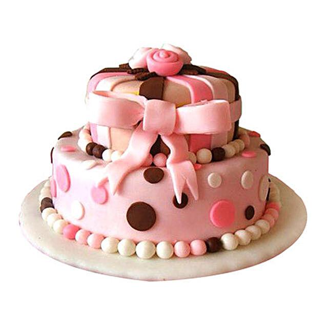 Elegant Pink Cake 3kg Eggless
