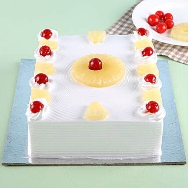 Exotic Pineapple Cake 1kg Eggless
