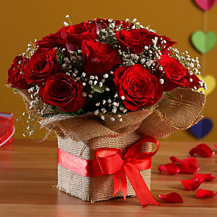Exotic Red Roses Arrangement