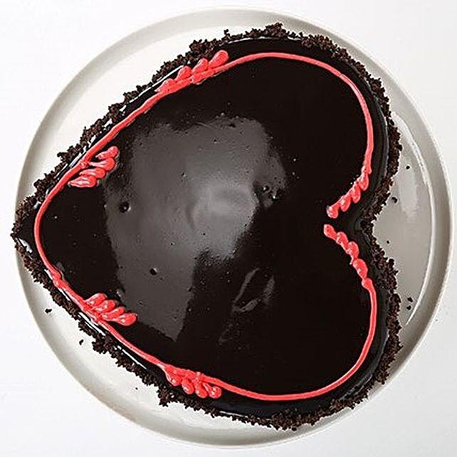 Fabulous Heart Cake half kg Eggless