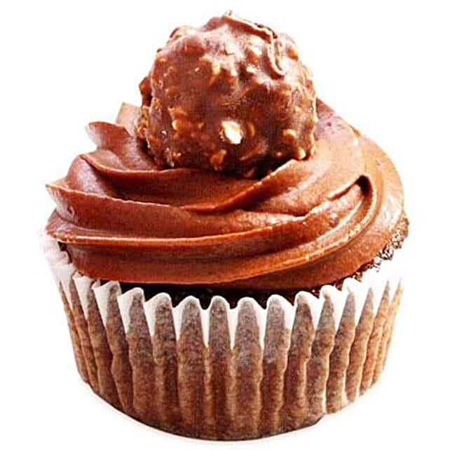 Ferrero Rocher Cupcakes 6 Eggless