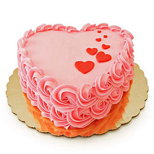 Floating Hearts Cake 1kg Chocolate Eggless
