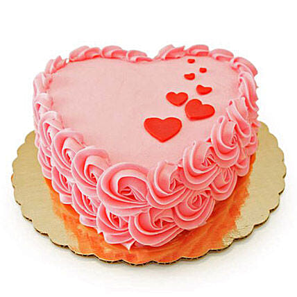 Floating Hearts Cake 1kg Chocolate