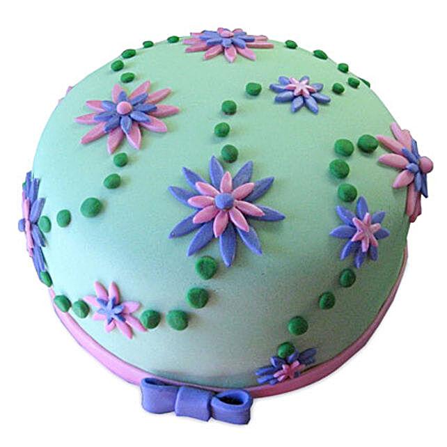 Flower Garden Cake 3kg Eggless Black Forest