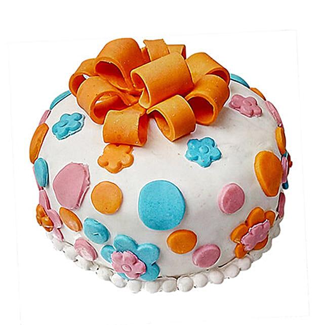 Fondant Baby Bash Cake 1 Kg Vanilla Eggless