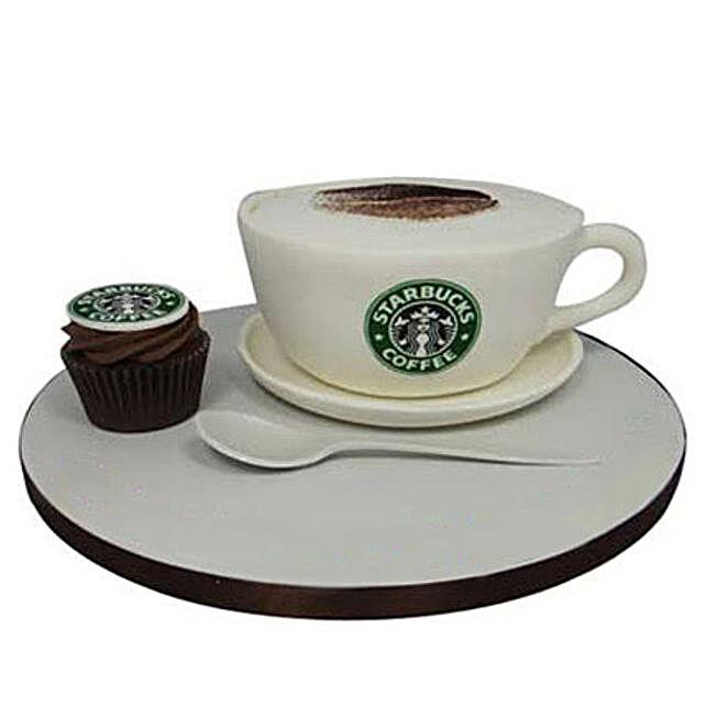 Forever Starbucks Cake 2kg Chocolate Eggless
