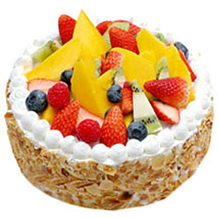 Fresh Fruit Cake - Five Star Bakery 1kg Eggless