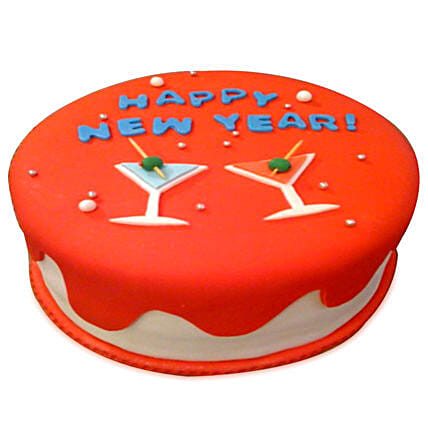 Happy New Year Cake 1kg Eggless