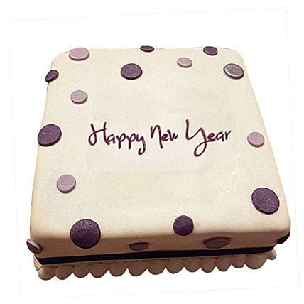 Happy New Year Fondant Cake 2kg Eggless