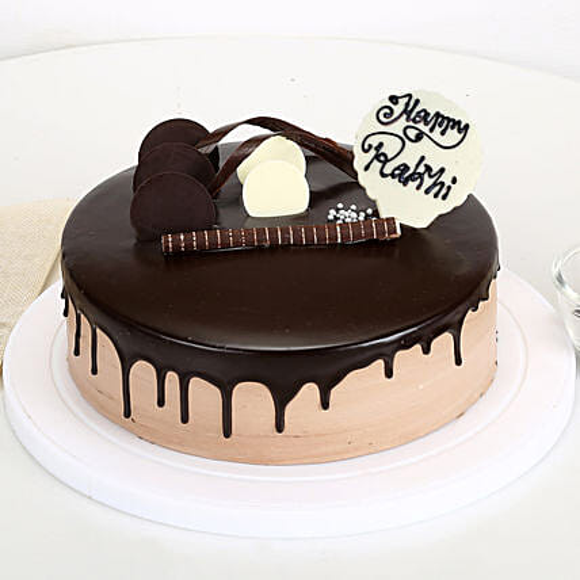 Happy Rakhi Chocolate Cake 1kg eggless