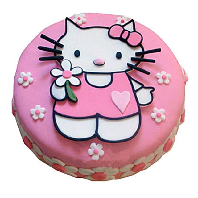 Hello Kitty Birthday Cake 4kg Vanilla Eggless