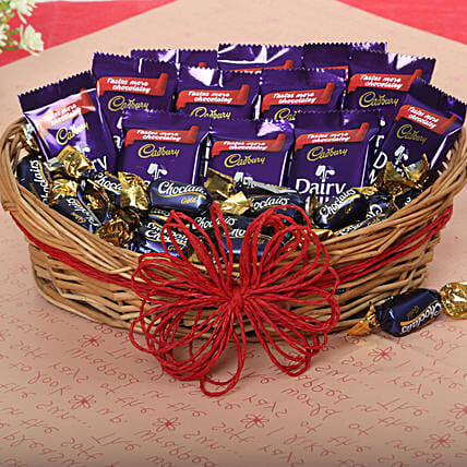Loaded With Chocolates Gift Cadbury Chocolate And Candy Basket