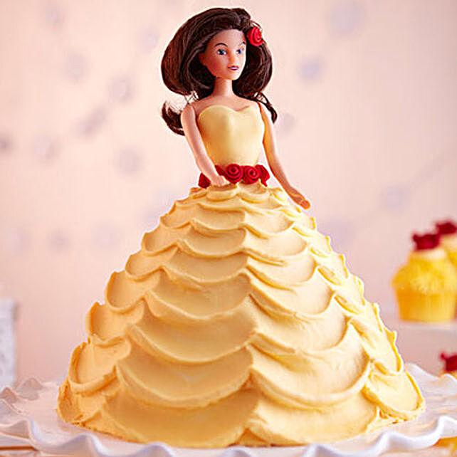 Lovely Barbie Cake Black Forest 3kg Eggless