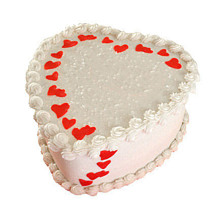Lovely Heart Shape Cake Half kg Chocolate