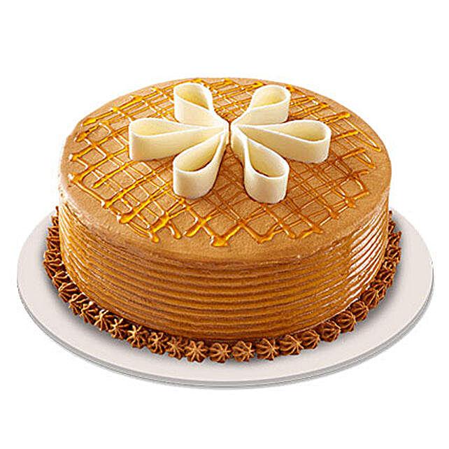Lush Caramelt Cake half kg Eggless