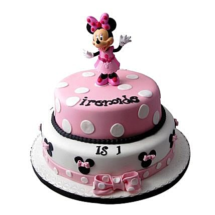 Minnie Mouse Birthday Cake 5kg Eggless