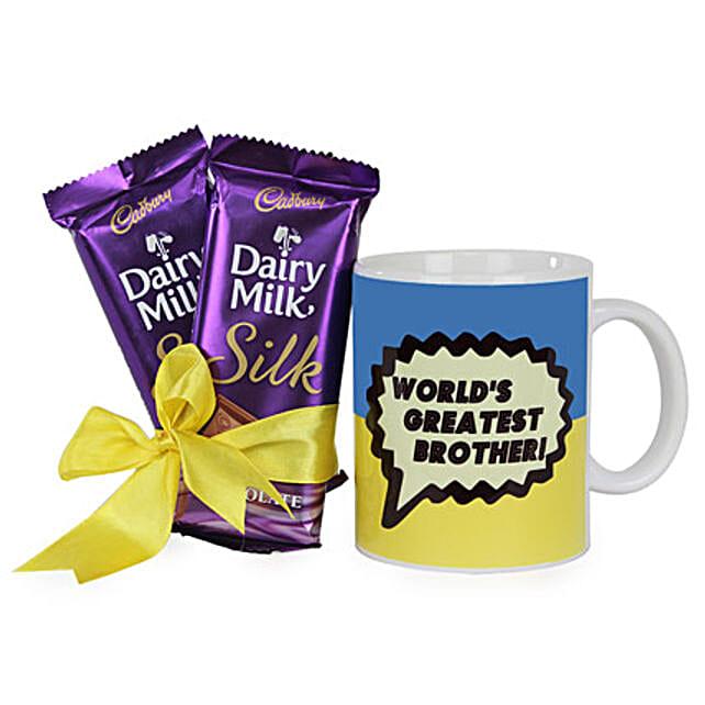 Mug With Chocolates For Brother