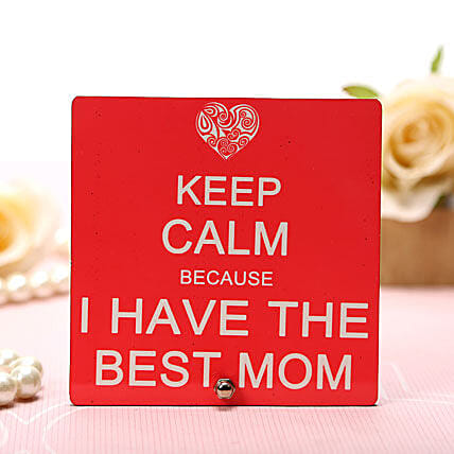My Best Mom Plaque