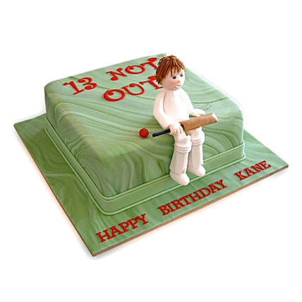 Not Out Cricket Cake 2Kg Eggless Chocolate
