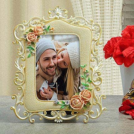 Personalised Floral Photo Frame